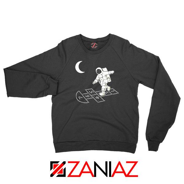Moon and Astronaut Playing Sweatshirt