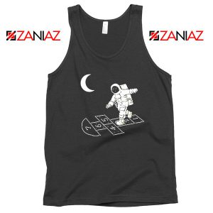 Moon and Astronaut Playing Tank Top