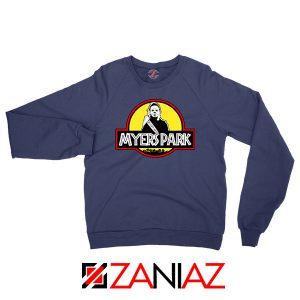 Myers Park Halloween Jurassic Navy Blue Sweatshirt