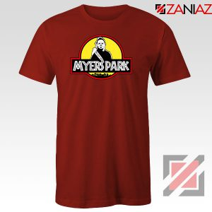 Myers Park Halloween Jurassic Park Red Tshirt