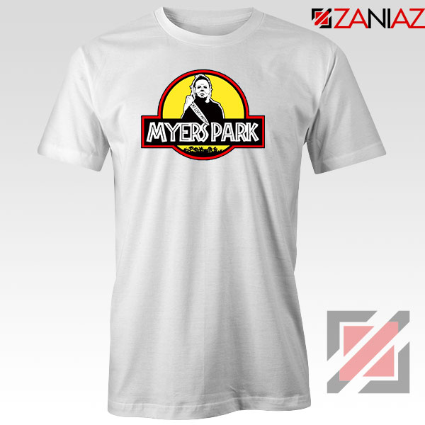 Myers Park Halloween Jurassic Park White Tshirt