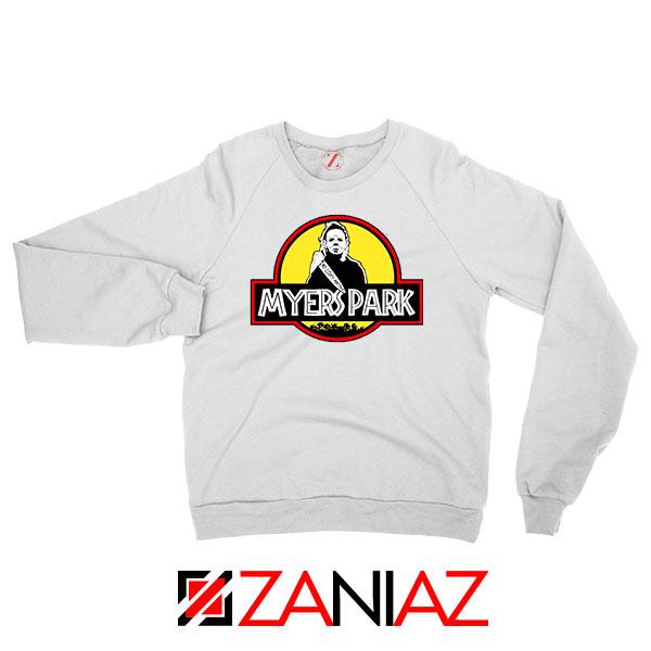 Myers Park Halloween Jurassic White Sweatshirt