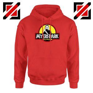 Myers Park Jurassic Logo Halloween Red Hoodie
