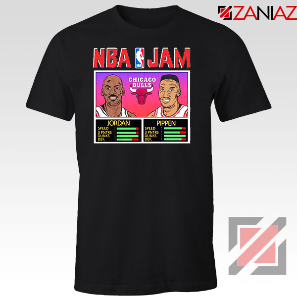 NBA Player Basketball Duo Jam Black Tshirt