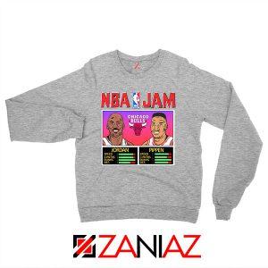 NBA Player Basketball Duo Jam Grey Sweatshirt