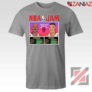 NBA Player Basketball Duo Jam Grey Tshirt
