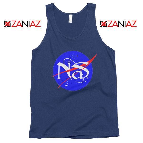 Nas Escobar Queens Rapper NASA Navy Blue Tank Top