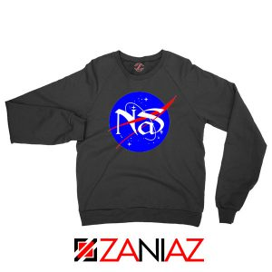 Nas Queens Hip Hop NASA Black Sweatshirt