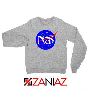 Nas Queens Hip Hop NASA Grey Sweatshirt