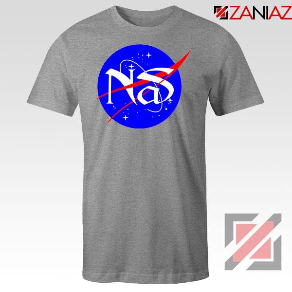 Nas Queens NASA Rapper Sport Grey Tshirt
