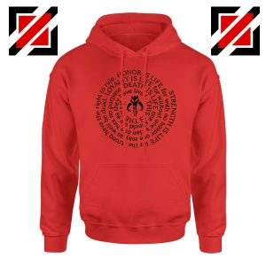 Neo Crusaders Symbol Quote Graphic Red Hoodie
