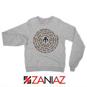 Neo Crusaders Symbol Quote Grey Sweatshirt