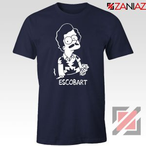 Pablo Escobart Simpson Cheap Navy Blue Tshirt