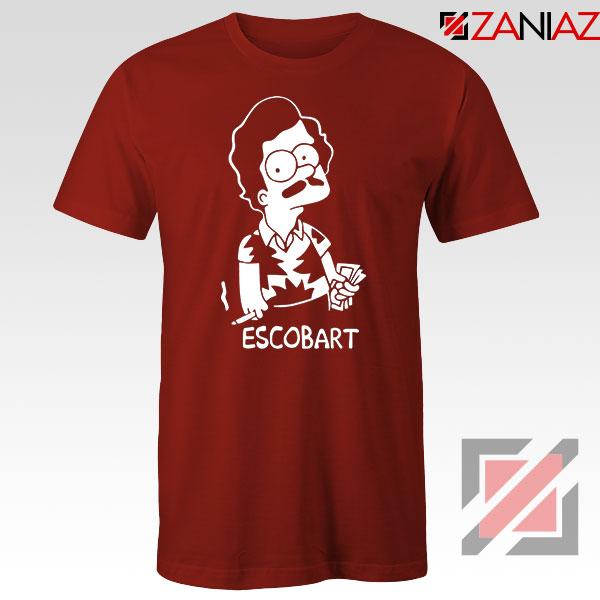 Pablo Escobart Simpson Cheap Red Tshirt