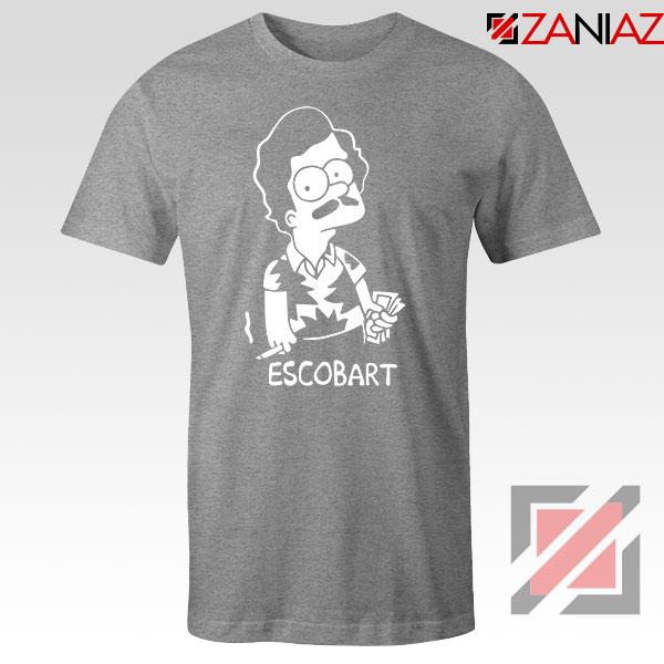 Pablo Escobart Simpson Cheap Sport Grey Tshirt