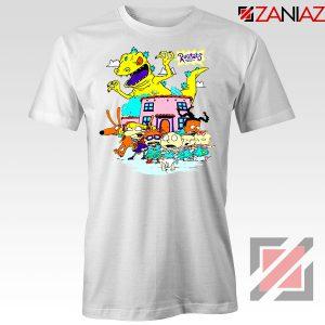 Rugrats Characters Run From Reptar Tshirt