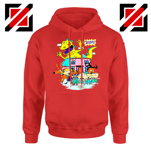 Rugrats Kids Run From Reptar Red Hoodie