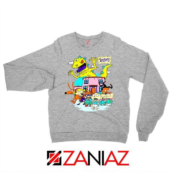 Rugrats Kids Run From Reptar Sport Grey Sweatshirt