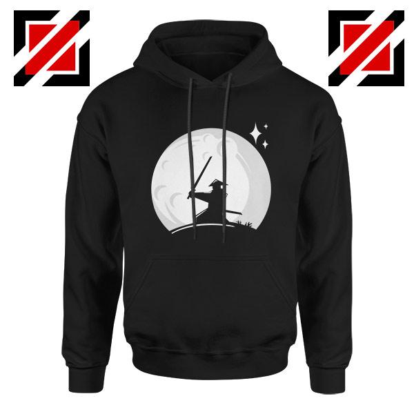 Samurai Silhouette Moon Design Hoodie