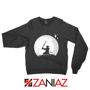 Samurai Silhouette Moon Graphic Sweatshirt