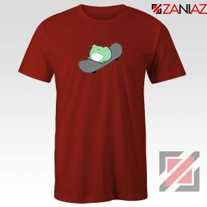 Skateboard Frog Brand Parody Red Tshirt