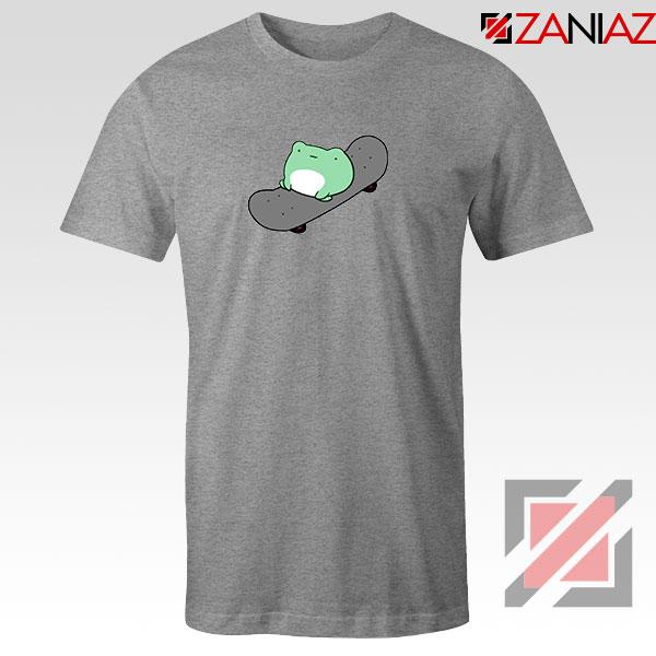 Skateboard Frog Brand Parody Sport Grey Tshirt