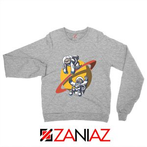 Sloth Lazy Astronauts Graphic Grey Sweatshirt