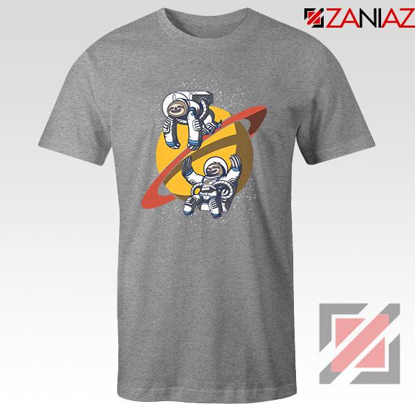 Sloth Lazy Astronauts Graphic Sport Grey Tee