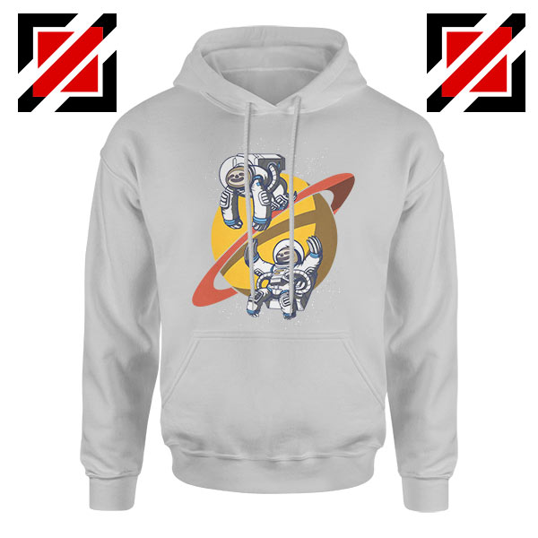 Sloth Lazy Astronauts GraphicSport Grey Hoodie