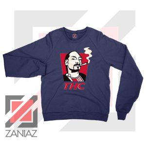 Snoop Dogg THC Smoke Graphic Navy Blue Sweatshirt