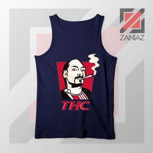 Snoop Dogg THC Smoke Graphic Navy Blue Tank Top
