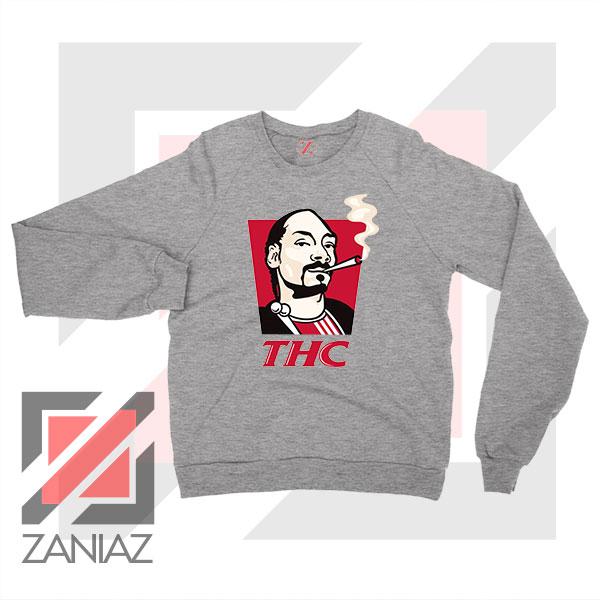 Snoop Dogg THC Smoke Graphic Sport Grey Sweatshirt