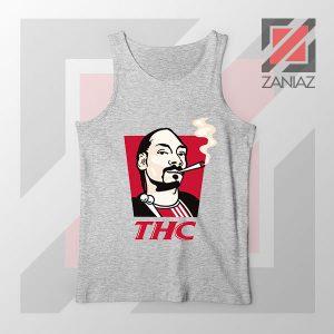 Snoop Dogg THC Smoke Graphic Sport Grey Tank Top