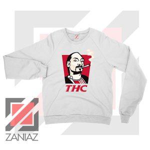 Snoop Dogg THC Smoke Graphic White Sweatshirt
