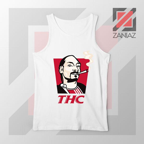 Snoop Dogg THC Smoke Graphic White Tank Top