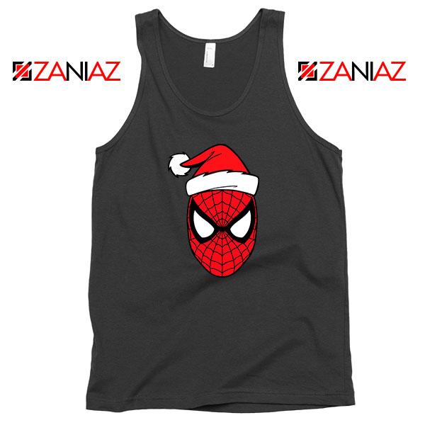 Spiderman Christmas Holiday Black Tank Top