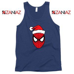 Spiderman Christmas Holiday Navy Blue Tank Top