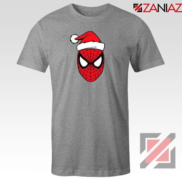 Spiderman Superhero Christmas Grey Tshirt