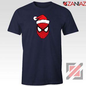 Spiderman Superhero Christmas Navy Blue Tshirt
