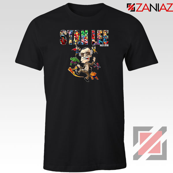 Stan Lee Marvel Comics Avengers Black Tshirt