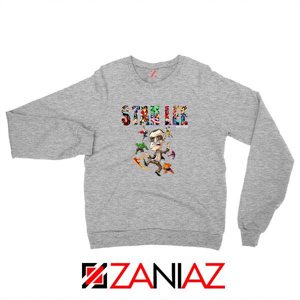 Stan Lee Marvel Comics Avengers Sport Grey Sweatshirt