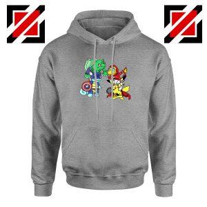 Superhero Pokemon The Avengers Sport Grey Hoodie