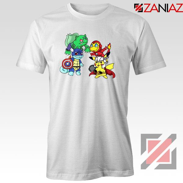 Superhero Pokemon The Avengers Tshirt