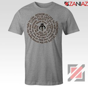 The Mandalorian Neo Crusaders Quote Grey Tshirt