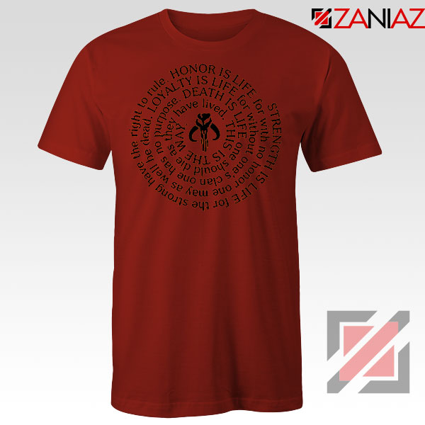 The Mandalorian Neo Crusaders Quote Red Tshirt