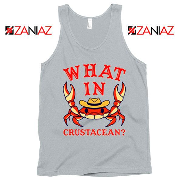 What In Crab Crustacean Graphic Grey Tank Top