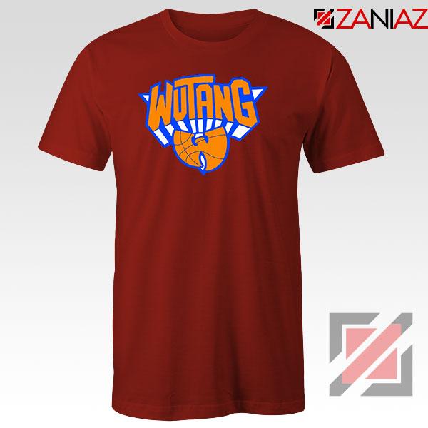 Wu Tang Clan NY Knicks Logo Red Tshirt
