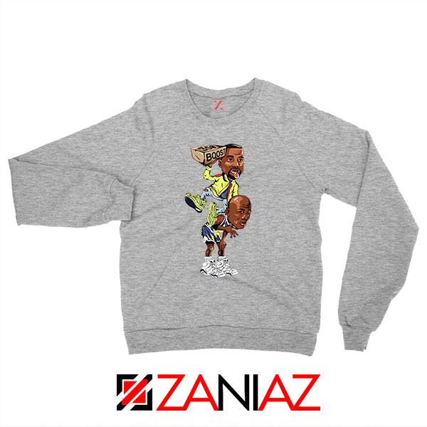 Yeezy Boost Over Jordan Graphic Grey Sweatshirt