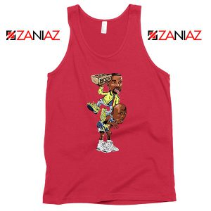 Yeezy Over Jumpman Cheap Graphic Red Tank Top