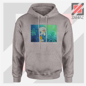 Squidward Meme Designs Sport Grey Hoodie
